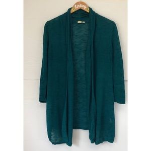 Anthropologie Teal Cardigan by Little Yellow Bird